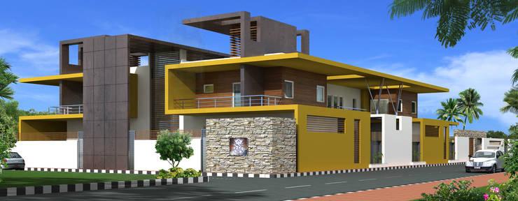 Mr. Ramesh Residence at Neyveli:  Houses by Dwellion,Modern