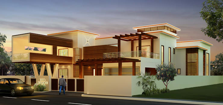 Mr. Ehiya Residence at Tanjore:  Houses by Dwellion,Modern