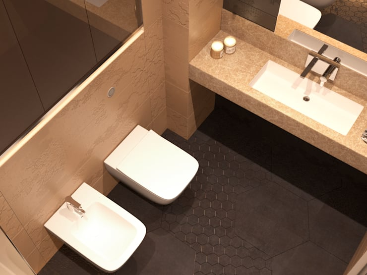 Bathroom :  Bathroom by Panda Studio,Modern Ceramic