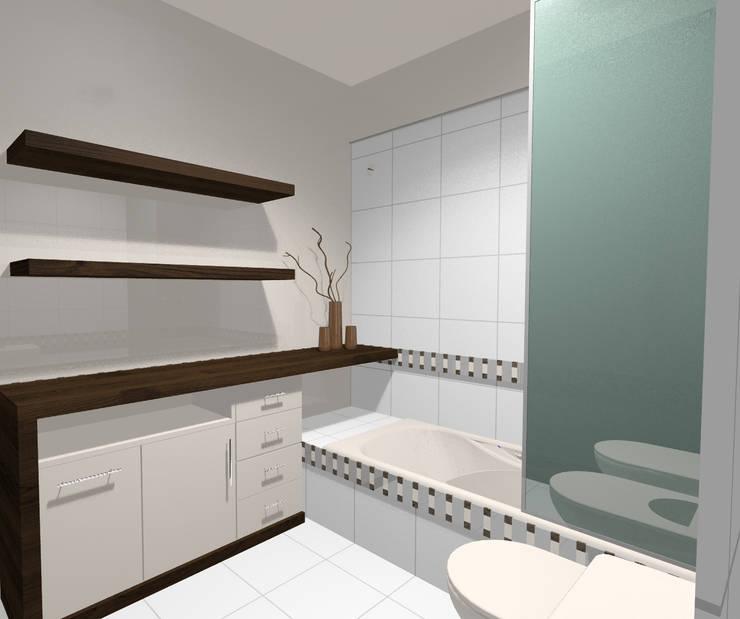 baño principal: Baños de estilo  por laura zilinski arquitecta,