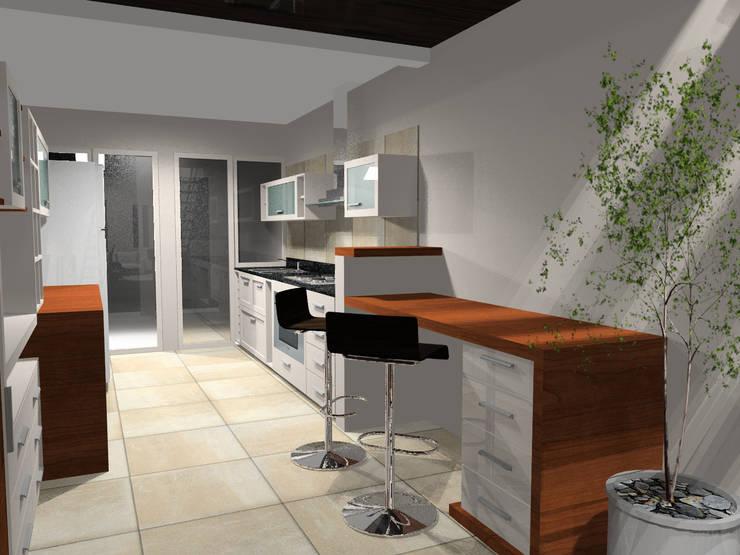 Cocina: Cocinas de estilo  por laura zilinski arquitecta,