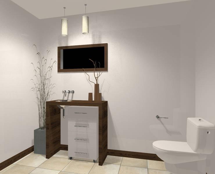 toilette: Baños de estilo  por laura zilinski arquitecta,