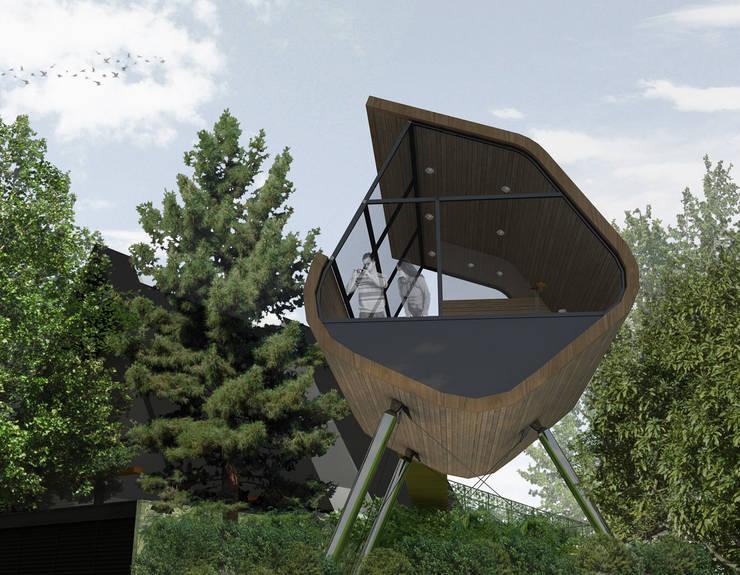 Casa del Árbol - RIMA Arquitectura: Casas de estilo  por RIMA Arquitectura