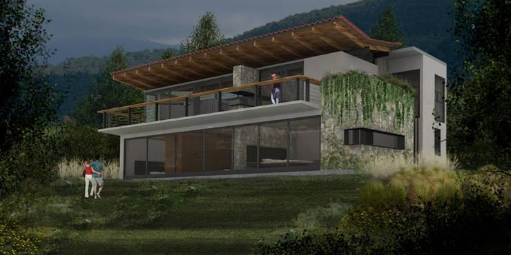 Casa Valle Monte - RIMA Arquitectura: Casas de estilo  por RIMA Arquitectura
