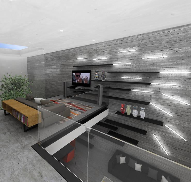 C&A - RIMA Arquitectura: Pasillos y recibidores de estilo  por RIMA Arquitectura