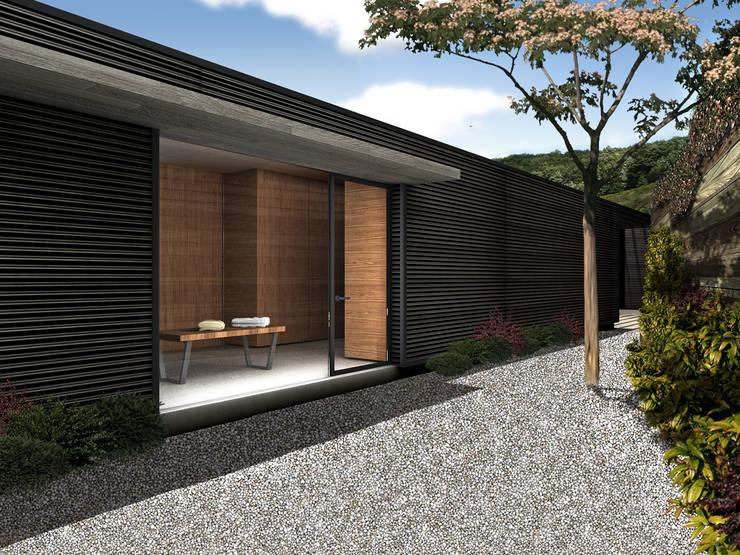 Casa Estadía - RIMA Arquitectura: Terrazas de estilo  por RIMA Arquitectura