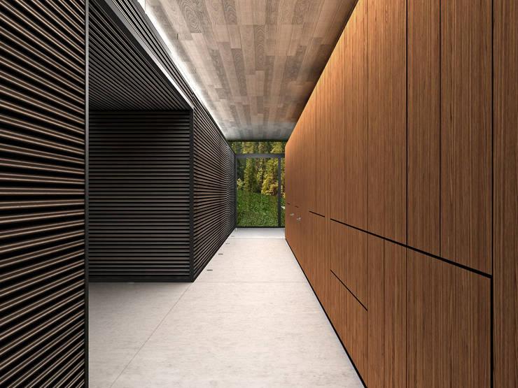 Casa Estadía - RIMA Arquitectura: Pasillos y recibidores de estilo  por RIMA Arquitectura