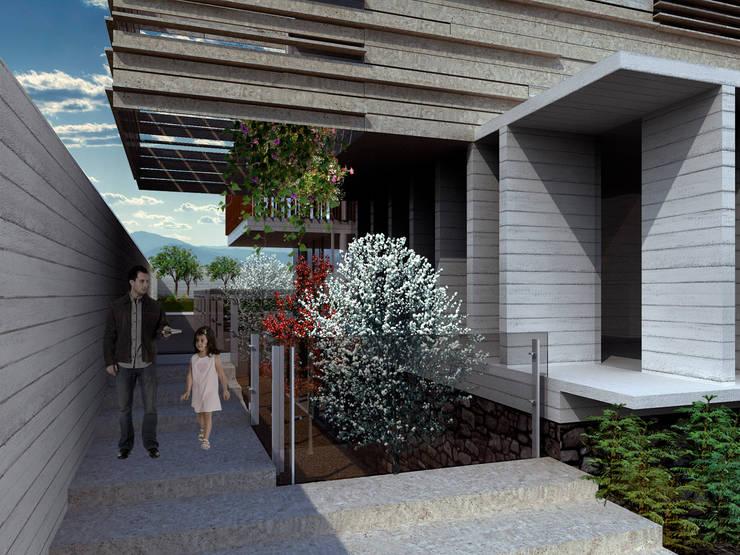 Bacatete - RIMA Arquitectura: Pasillos y recibidores de estilo  por RIMA Arquitectura