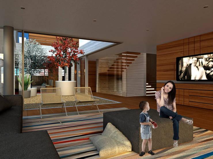 Bacatete - RIMA Arquitectura: Salas de estilo  por RIMA Arquitectura