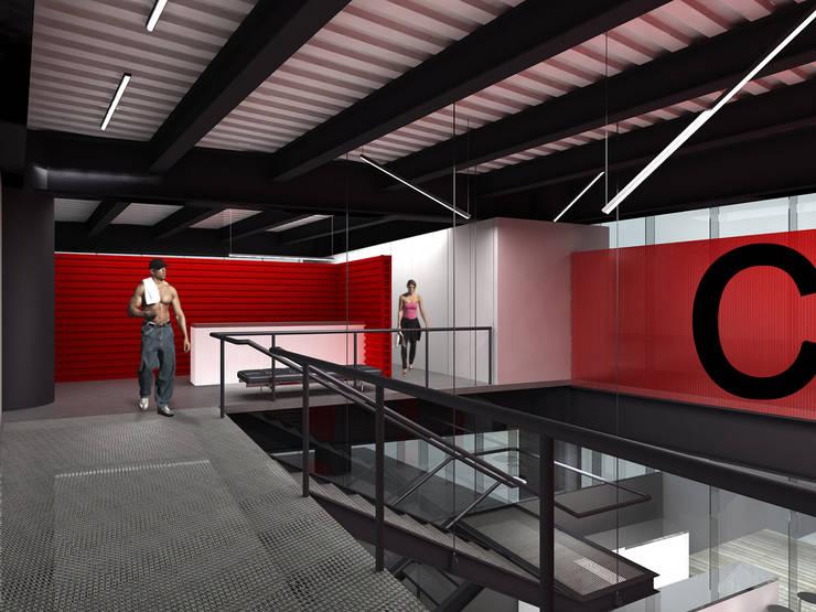 CrossFit - RIMA Arquitectura: Gimnasios de estilo  por RIMA Arquitectura