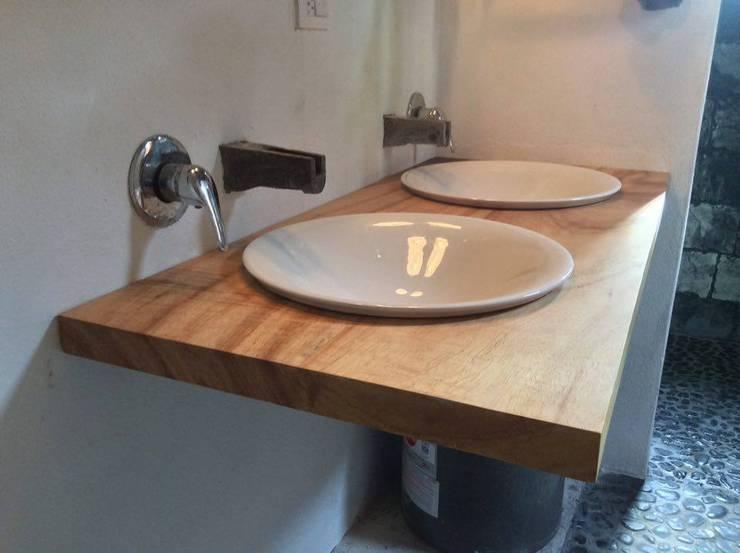 Base para lavamanos Baños clásicos de Natureflow® Clásico Madera Acabado en madera