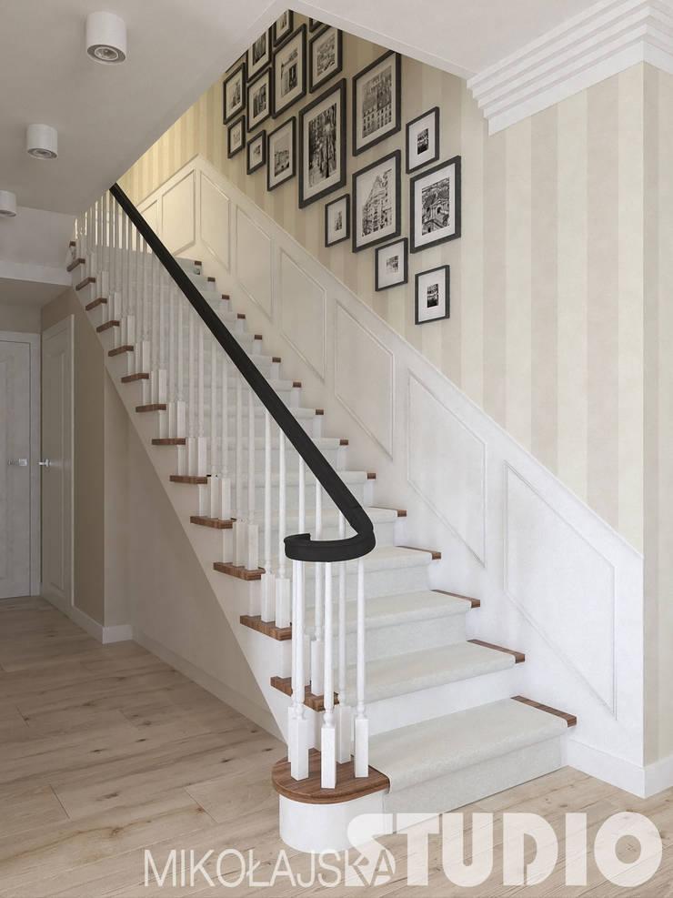 schody projekt: styl , w kategorii  zaprojektowany przez MIKOŁAJSKAstudio