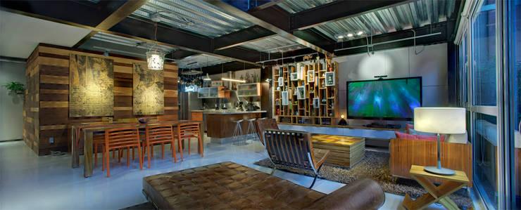 Rosedal - RIMA Arquitectura: Salas de estilo  por RIMA Arquitectura