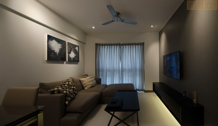 BTO Dawson Modern living room by Designer House Modern