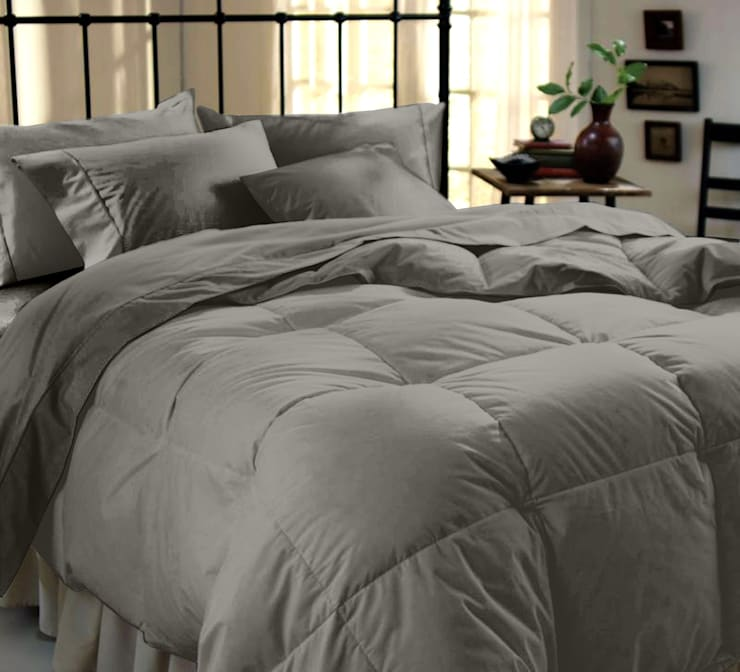 100% Cotton Sateen Grey Double High thread count 400TC bed Sheet with 2 pillow covers :  Bedroom by FurnishTurf