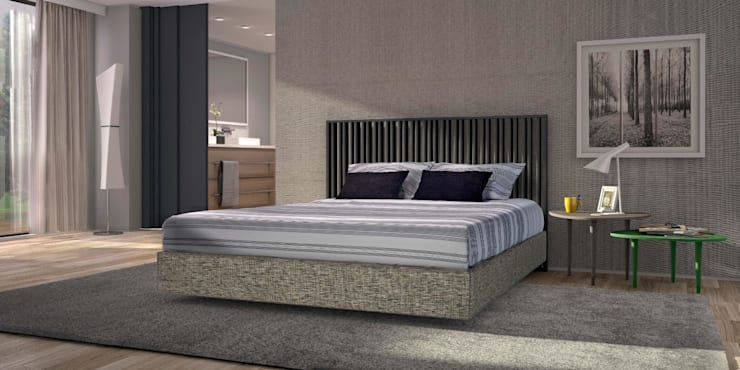Mobiliário de quarto Bedroom furniture www.intense-mobiliario.com  RELÂMPAGO http://intense-mobiliario.com/pt/quartos/3262-quarto-relampago-.html: Quarto  por Intense mobiliário e interiores;