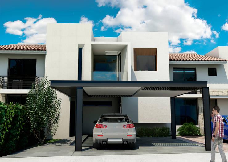 CASA RESIDENCIAL EL CIELO: Casas de estilo  por Flores Rojas Arquitectura