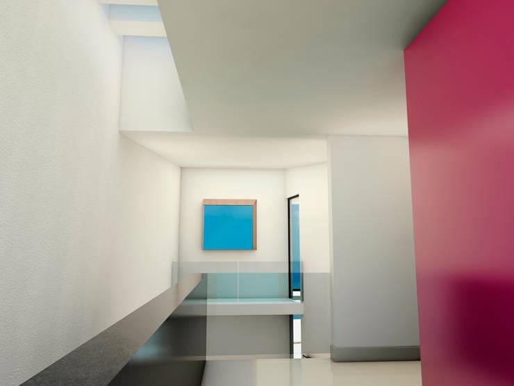 El espacio debe fluir del exterior al interior: Casas de estilo  por Flores Rojas Arquitectura
