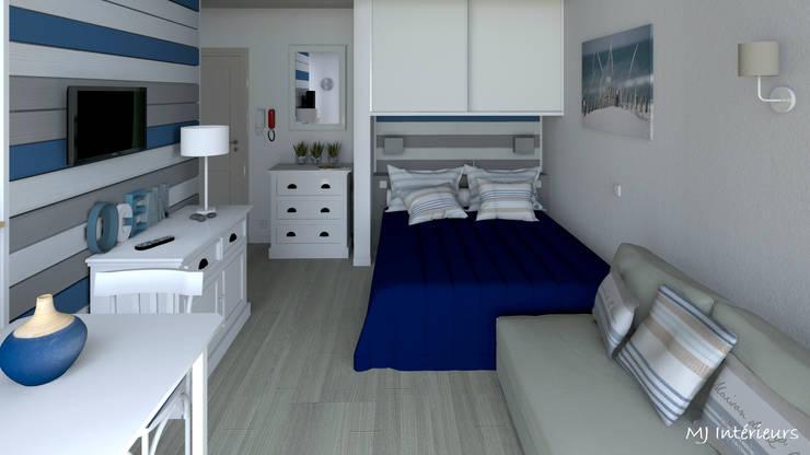 Projekty,  Sypialnia zaprojektowane przez MJ Intérieurs