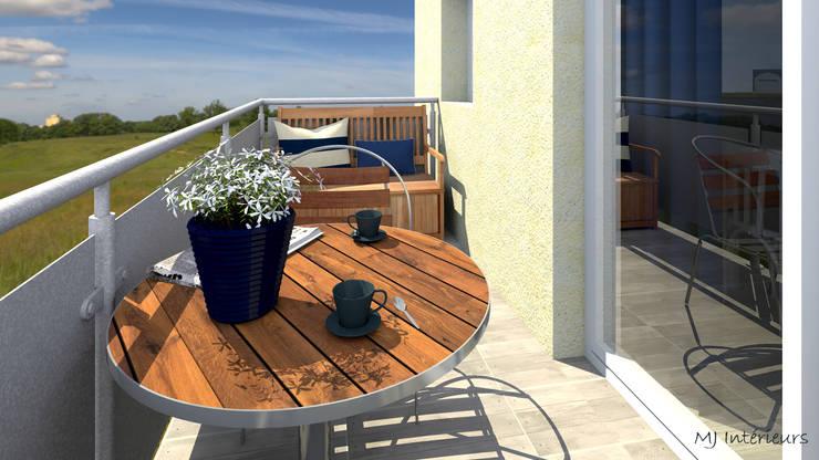 Balcon: Terrasse de style  par MJ Intérieurs