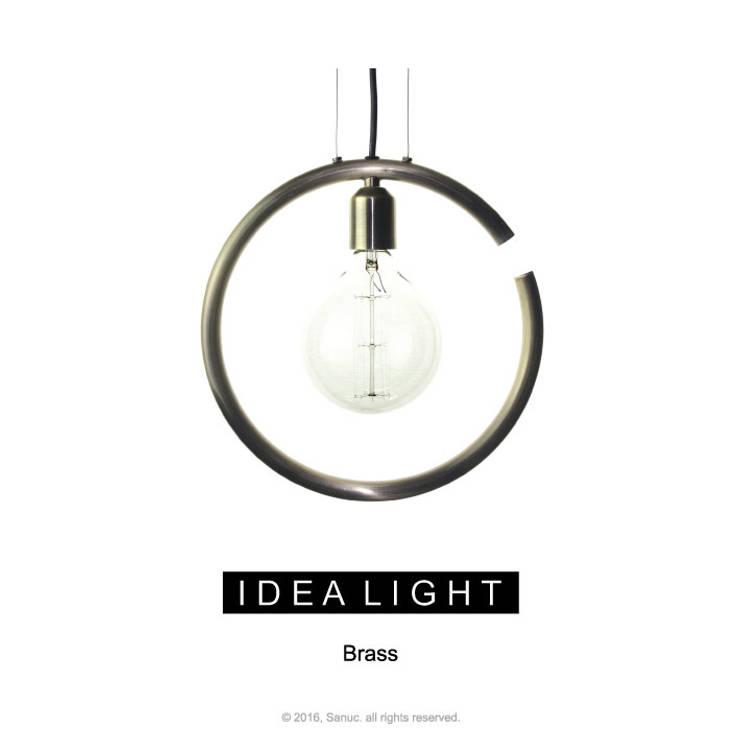 IDEA LIGHT Pendant_Brass Bronze: SANUC의  주방