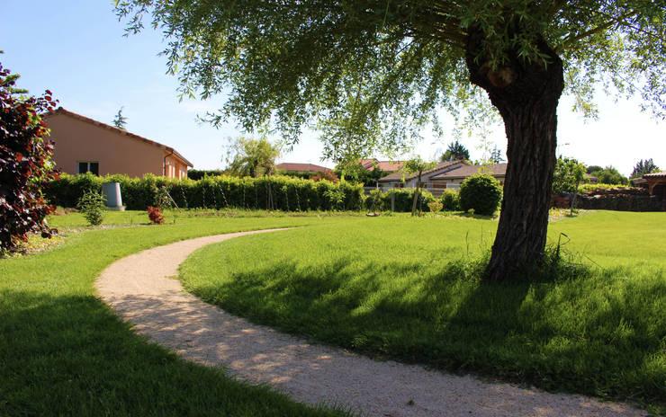 Chemin à vélo Jardin rural par Constans Paysage Rural