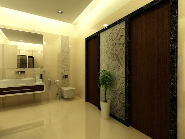 Mr.Javed:  Bathroom by Shadab Anwari & Associates.