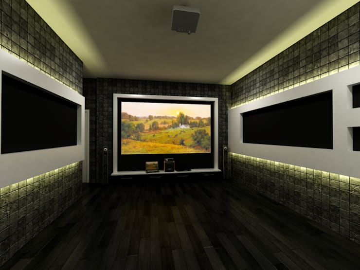 Mr.Javed:  Multimedia room by Shadab Anwari & Associates.