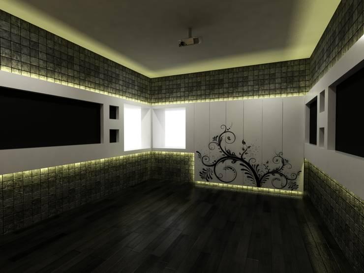 Mr.Javed:  Media room by Shadab Anwari & Associates.
