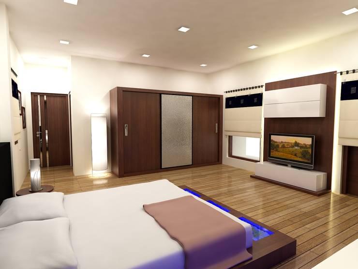 Mr.Javed:  Bedroom by Shadab Anwari & Associates.