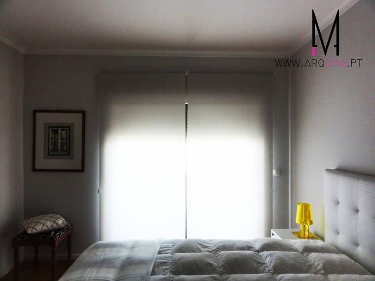 Casa Amélia Rey: Quartos  por ARQAMA - Arquitetura e Design Lda