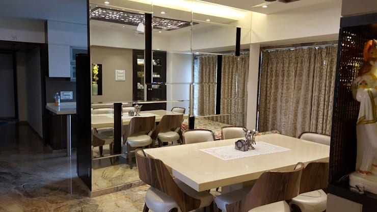 dining:  Dining room by NCA  naresh chandwani & associates