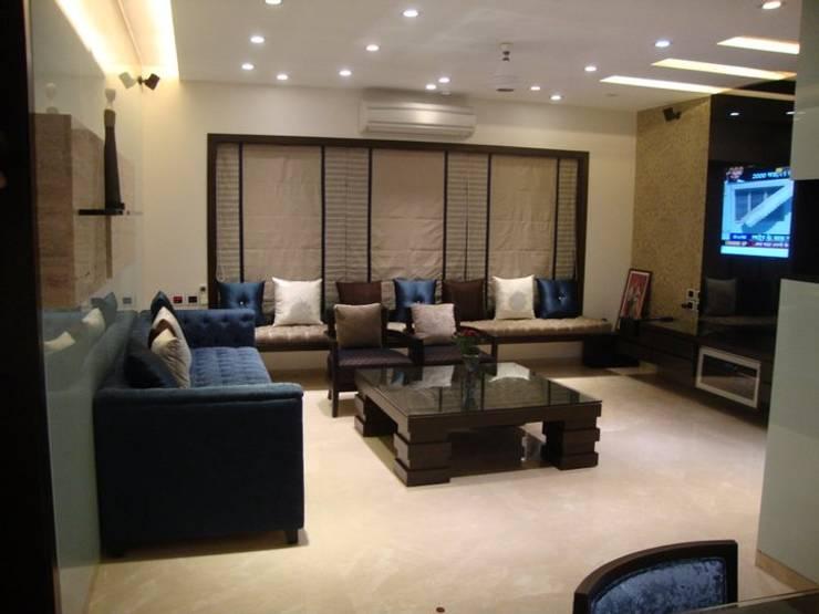 living :  Living room by NCA  naresh chandwani & associates,Modern