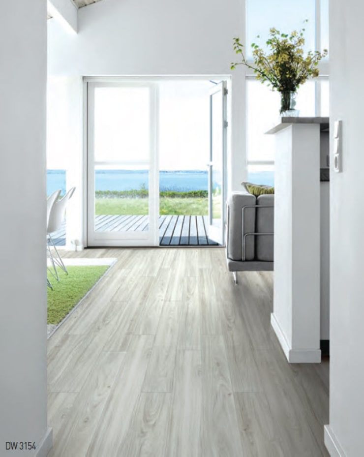 LUXURY VINYL FLOOR 5mm  SISTEMA - CLICK:  de estilo  por THE FLOORING COMPANY S.A,Moderno Sintético Marrón