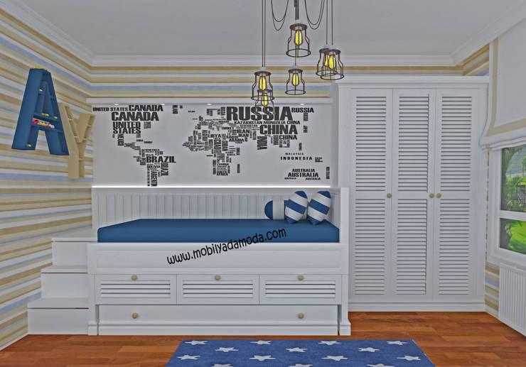 MOBİLYADA MODA  – Ahmet Yahya'nın Odası:  tarz Çocuk Odası, Kırsal/Country Ahşap Ahşap rengi