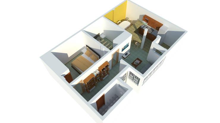 Perspectiva: Casas de estilo  por Ingenieros y Arquitectos Continentes