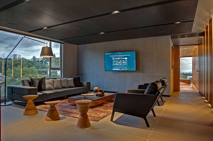 Living room by RIMA Arquitectura, Modern Concrete