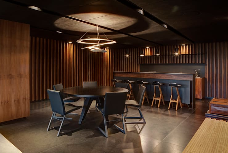 Dining room by RIMA Arquitectura, Modern Wood Wood effect