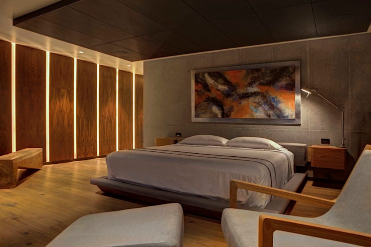 Bedroom by RIMA Arquitectura, Modern Wood Wood effect