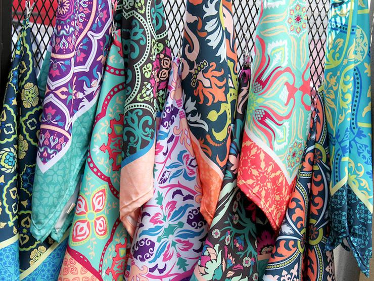 Manteles Colección 2016:  de estilo  por b-home,Ecléctico Textil Ámbar/Dorado
