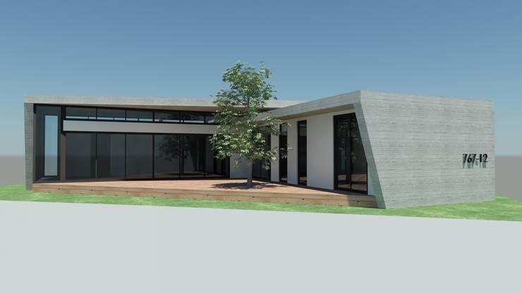 Western Hill House: DDS 건축디자인의  베란다