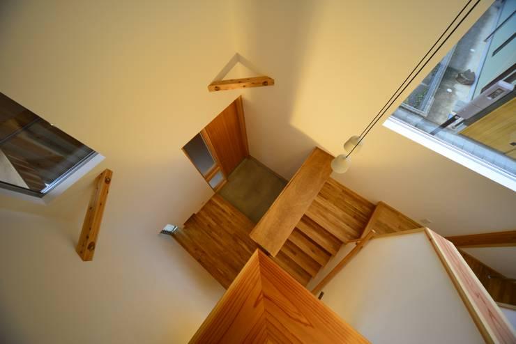 諸寄の家: シェド建築設計室が手掛けた廊下 & 玄関です。