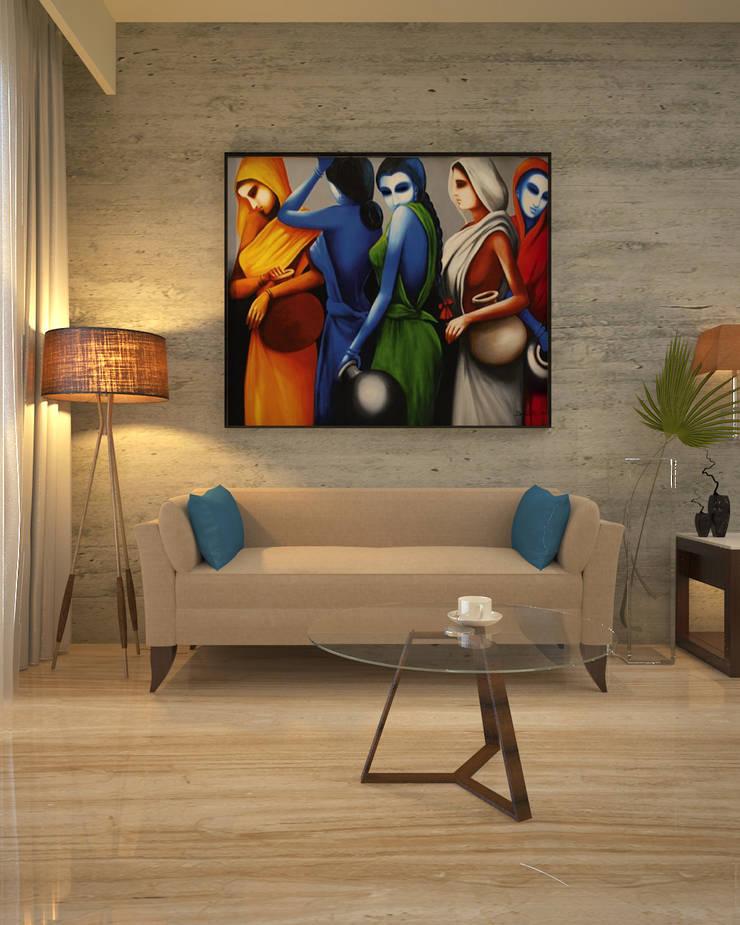 BEDROOM SEATING:  Bedroom by Vaibhav Patel & Associates