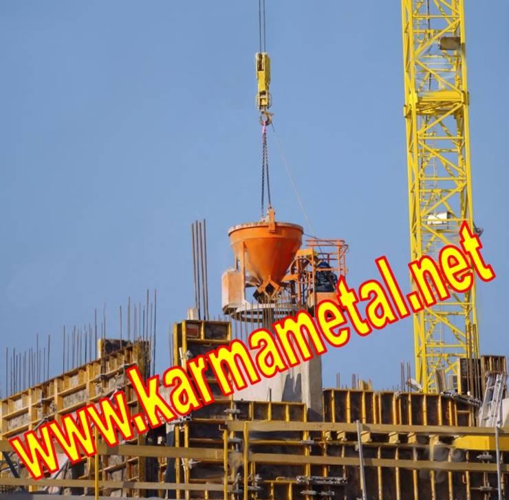 KARMA METAL – KARMA METAL - Kule Vinc Forklift İnsaat Santiye Micir Harc Beton Kovasi:  tarz , Endüstriyel