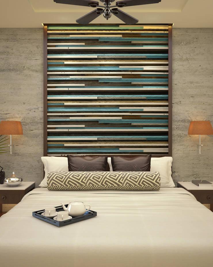 Headboard :  Bedroom by Vaibhav Patel & Associates