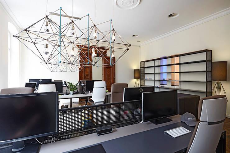 dga – Berlin'de bir Ofis Tasarımı:  tarz Çalışma Odası, Modern