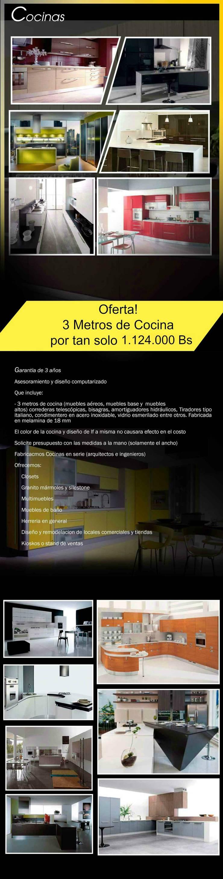 Empotrado de cocina: muebles aereos, base, torres de horno, torres nevera, etc...: Cocina de estilo  por Filippo Cucine C.A.