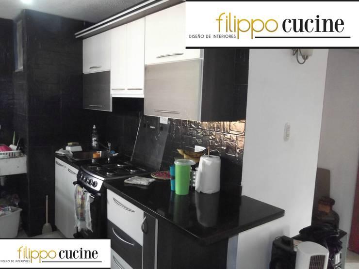 Trabajo realizado - empotrado de cocina: Cocina de estilo  por Filippo Cucine C.A.