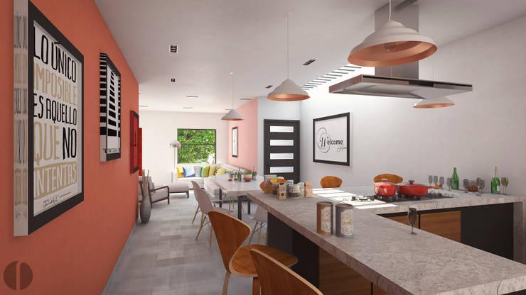 Cocinas de estilo  por Laboratorio Mexicano de Arquitectura