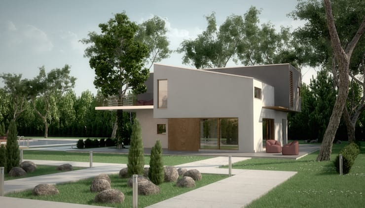 Houses by POMP0NI ASSOCIATI SRL,